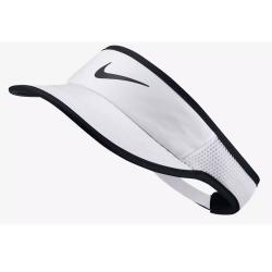NIKE Aerobill Fthrlt Visor Adj White/Black