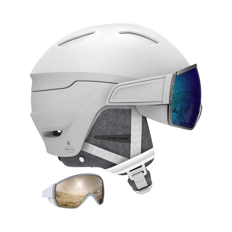 Lyžiarska prilba SALOMON Mirage+ White/Blue Solar Biela 56-59 cm