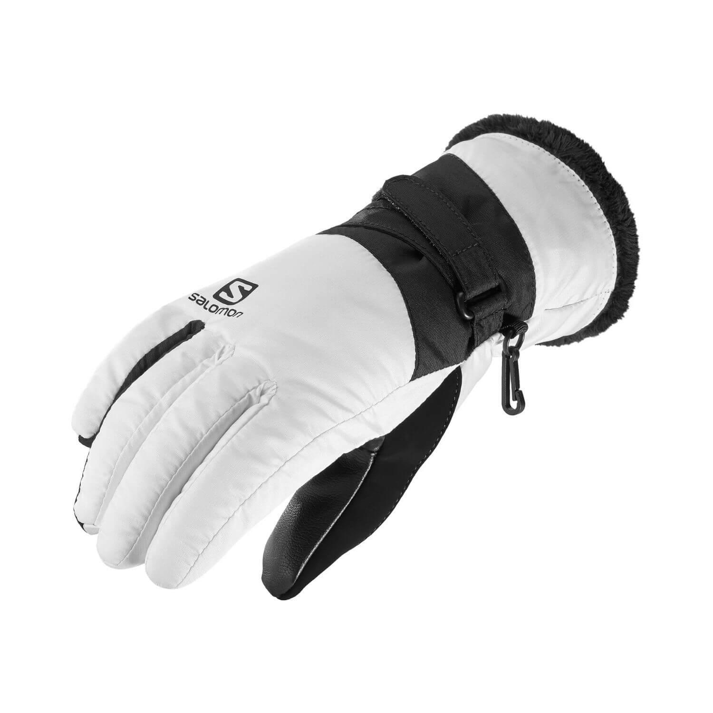 Lyžiarske rukavice SALOMON Force Dry W White/Black Čierno-biela S
