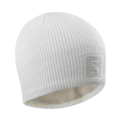 SALOMON Logo Beanie White/Lunar Rock