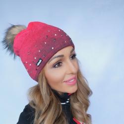 Zimná čiapka EISBÄR Dip Dye Lux Crystal Mü Diva Pink