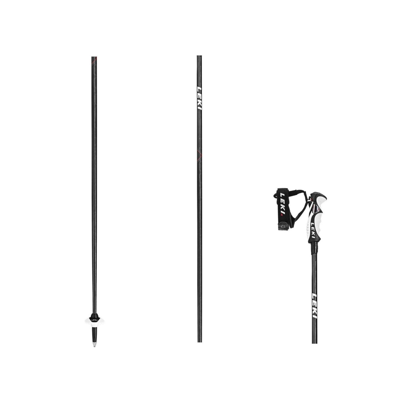 LEKI Carbon HX 6.0 Čierna 120 cm