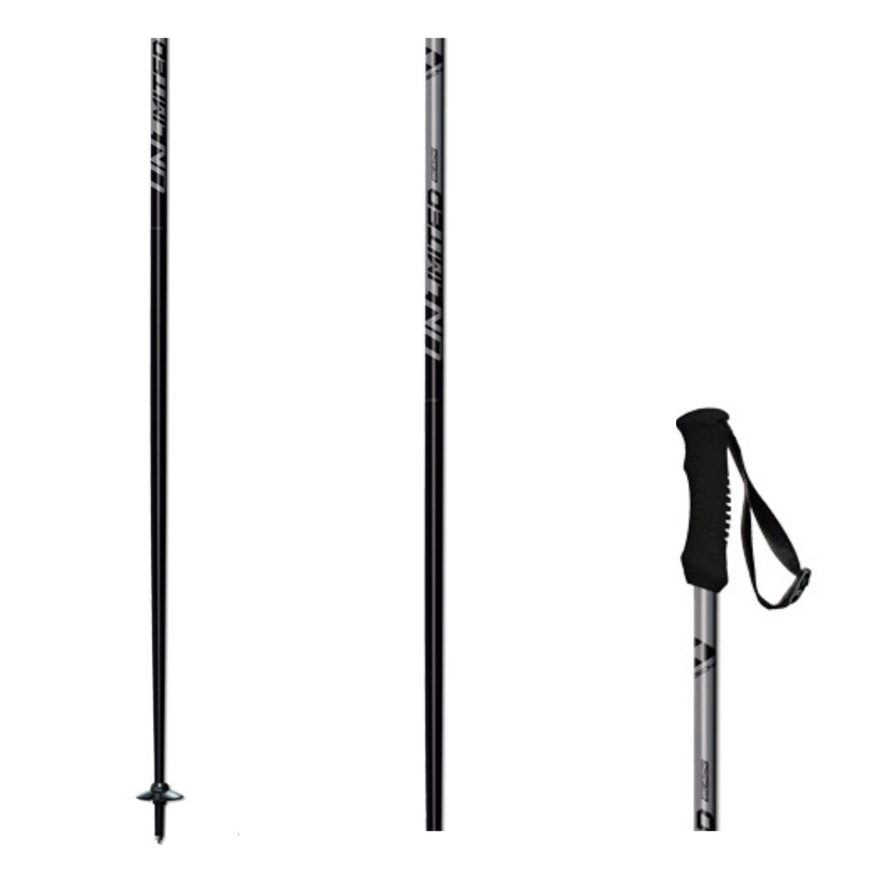 Lyžiarske palice FISCHER Unlimited Black Čierna 135 cm