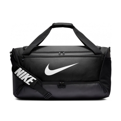 Športová taška NIKE Brasilia M 9.0 Black / White