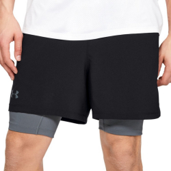 Kraťasy UNDER ARMOUR Qualifier 2 in 1 Black