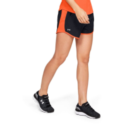 Dámske šortky UNDER ARMOUR Fly By Short Black/Peach Plasma
