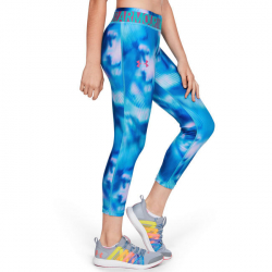 Legíny UNDER ARMOUR HG Printed Ankle Crop Blue/Pink
