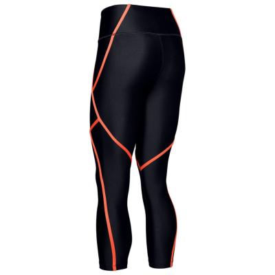 UNDER ARMOUR HG Ankle Crop Edg Black/Peach Plasma