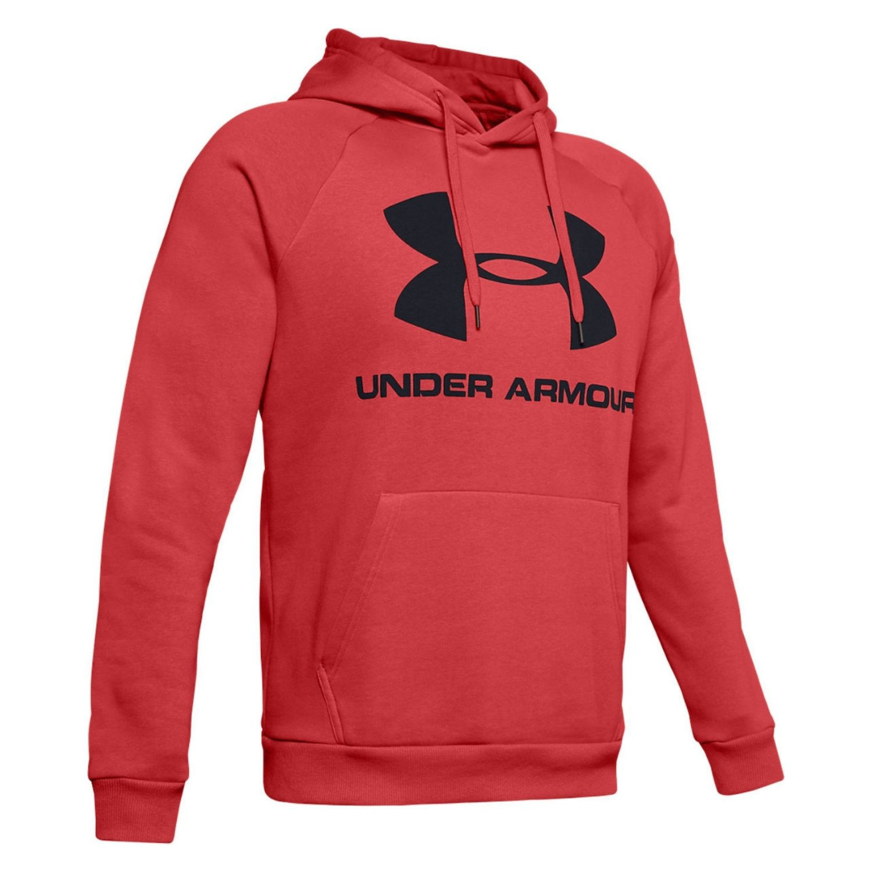 Mikina UNDER ARMOUR Rival Fleece Sportstyle Logo Martian Red/Black Červená XL