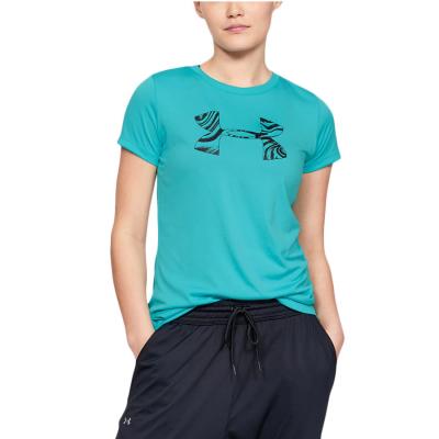 Dámske tričko UNDER ARMOUR Tech SSC Graphic Breathtaking Blue/Black