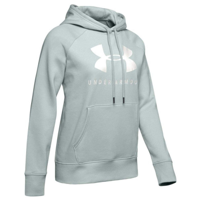 UNDER ARMOUR Rival Fleece Sportstyle Graphic Green/White