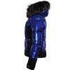 Bunda SPORTALM Cooris Metallic s kapucňou z pravej kožušiny