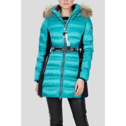 Dámska bunda SPORTALM Skkylary s kapucňou z pravej kožušiny