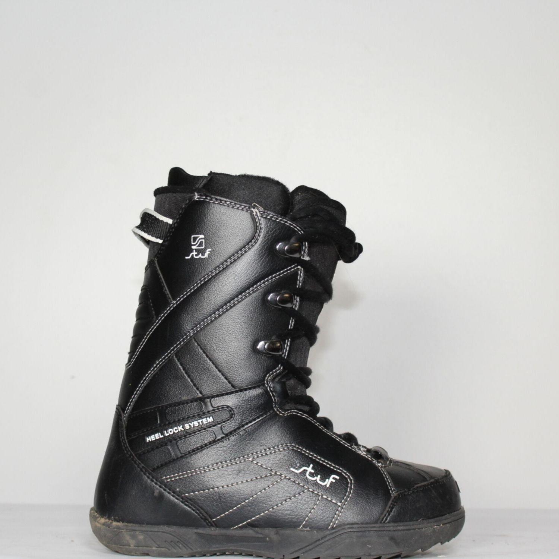 Jazdené Snowboardové topánky STUF Black 24.5