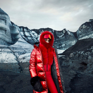 Kapucňa GOLDBERGH Naomi Lava s pravou kožušinou