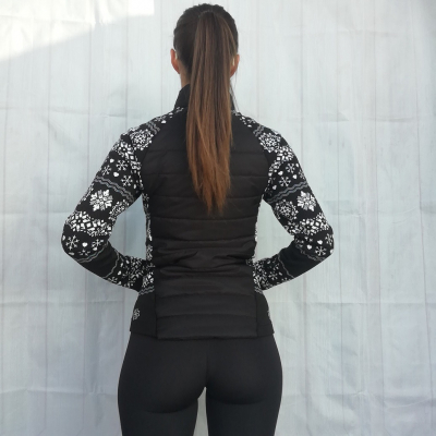 Bunda NEWLAND Lady Full Zip Black/White