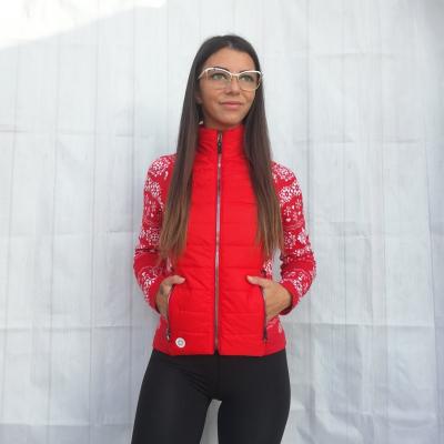 Bunda NEWLAND Lady Full Zip Red/White