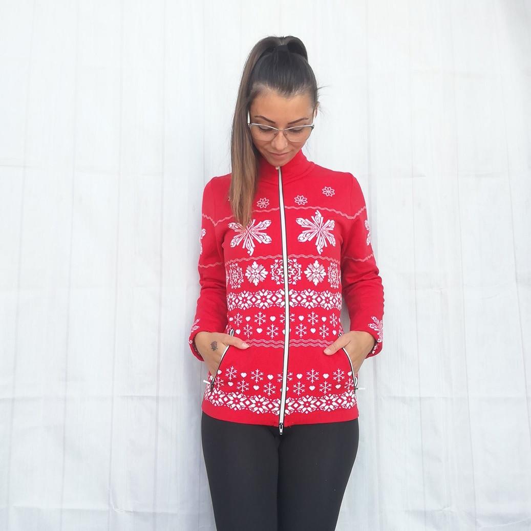 Mikina NEWLAND Lady Full Zip Red/White Bielo-červená L