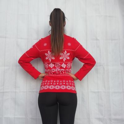 Mikina NEWLAND Lady Full Zip Red/White