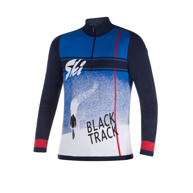 NEWLAND Man T-Neck Blue/White Bielo-modrá XXL