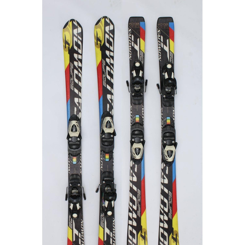 Jazdené bazárové lyže SALOMON Equipe T II 120 cm