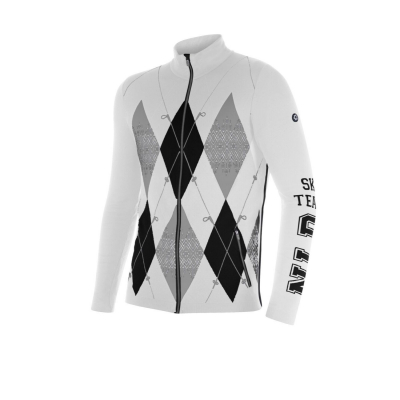 NEWLAND Man Full Zip White/Black