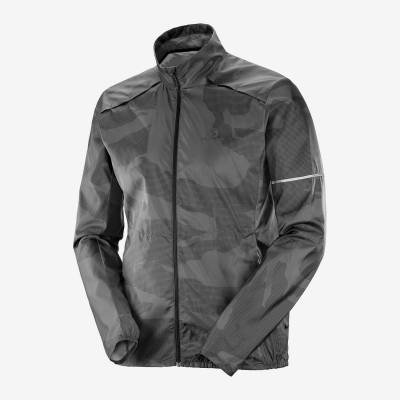 SALOMON Agile WIND JKT M-Ebony-Black-P