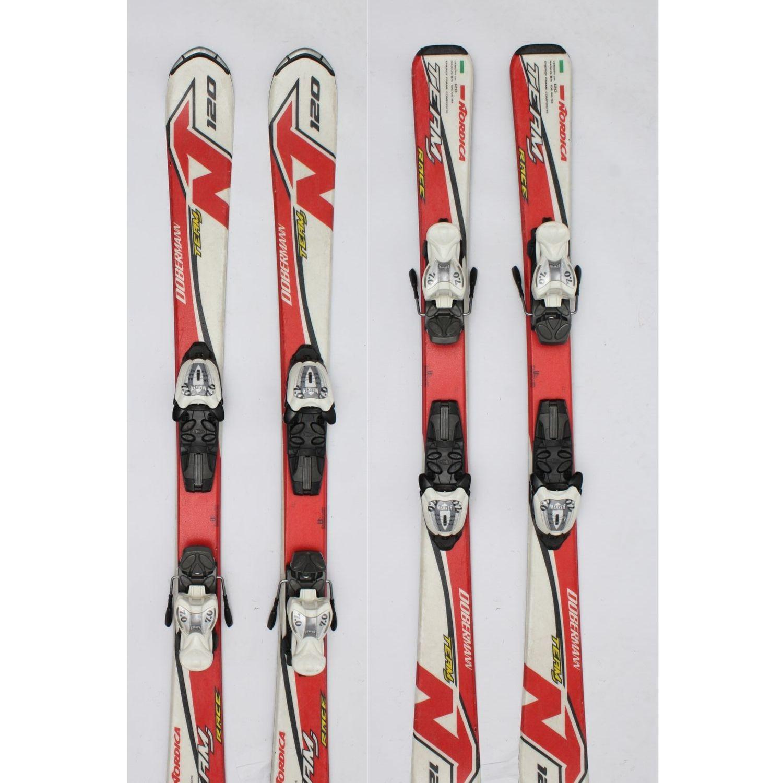 Jazdené bazárové lyže NORDICA Dobermann White-Red 120 cm