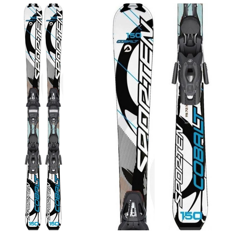 Zjazdové lyže SPORTEN COBALT Blue s viazaním Tyrolia Bielo-modrá 166 cm
