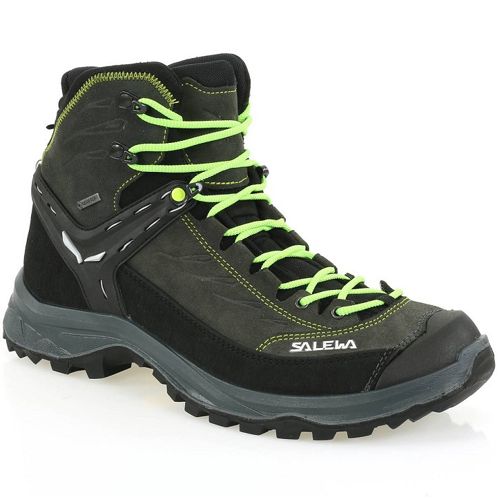 Turistická obuv SALEWA Trainer MID GTX Black - GoreTex Čierno-zelená 42