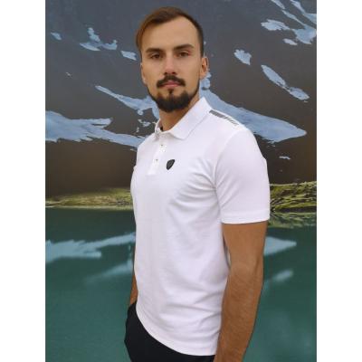 ARMANI Man Jersey Polo Shirt White