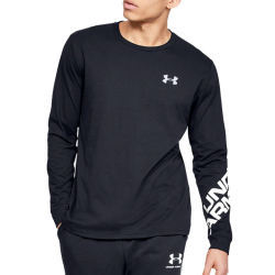 Tričko UNDER ARMOUR Wordmark Sleeve LS Black