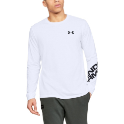 Tričko UNDER ARMOUR Wordmark Sleeve LS White