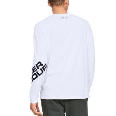 UNDER ARMOUR Wordmark Sleeve LS White