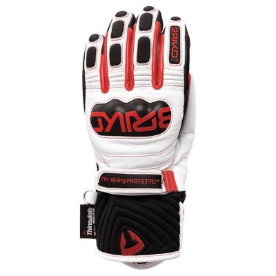 Lyžiarske rukavice BRIKO Gar EW - Extra Warm White/Red