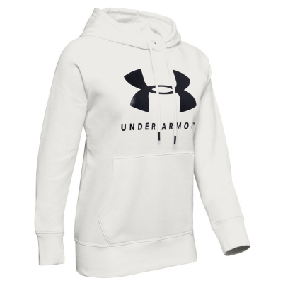 Mikina UNDER ARMOUR Rival Fleece Sportstyle Graphic White