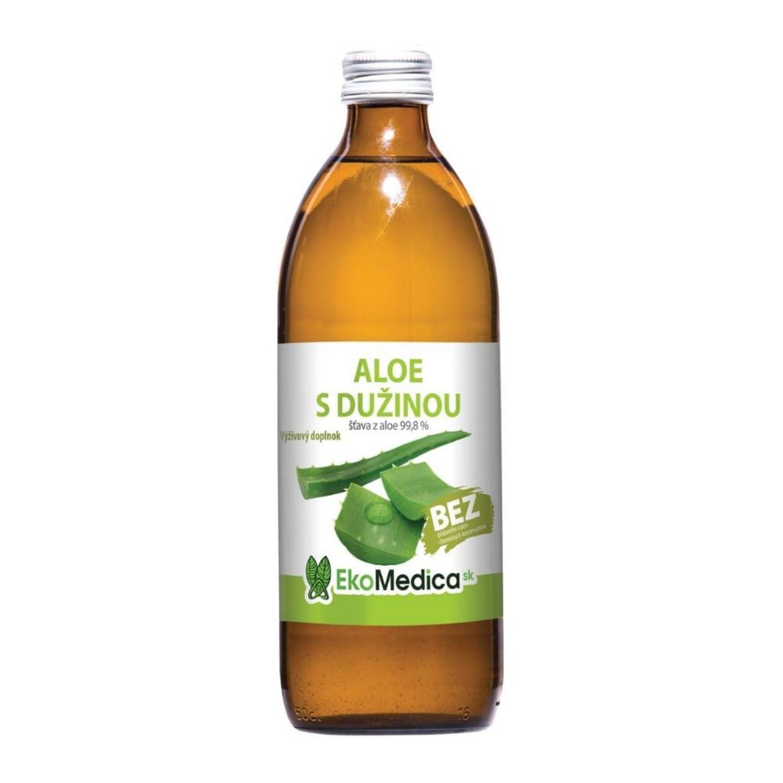 EkoMedica Aloe s dužinou 99,8% šťava 500 ml