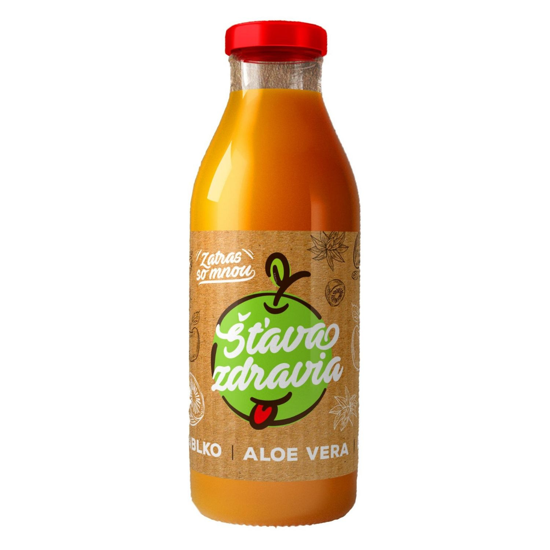 EkoMedica 100% šťava Jablko + Aloe + Kiwi 300 ml