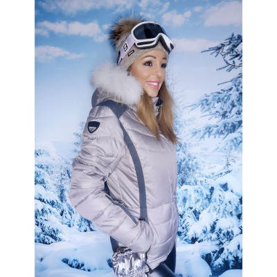 ICEPEAK Cindy IA s pravou kožušinou na kapucni