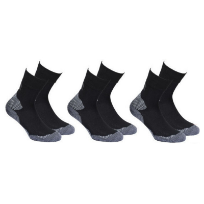 Outdoor ponožky HIGH COLORADO 3-Pack Black/Gray