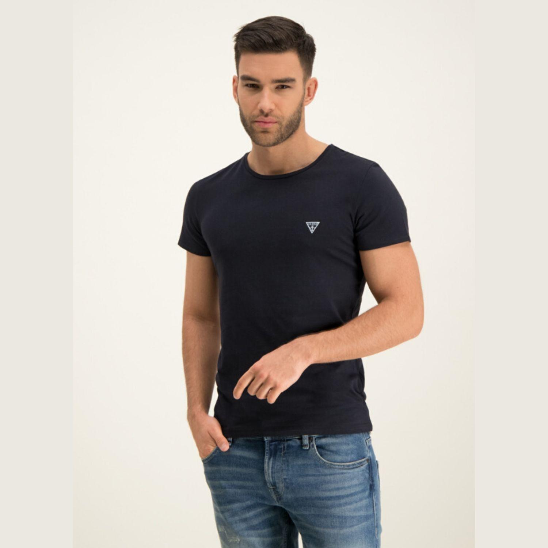 Pánské tričko GUESS 2-Pack Black Čierna XXL