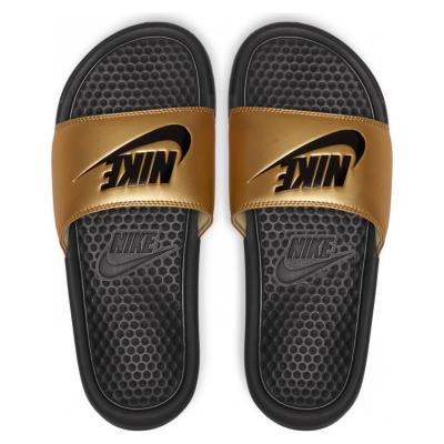 Pantofle Nike Benassi JDI Black / Gold