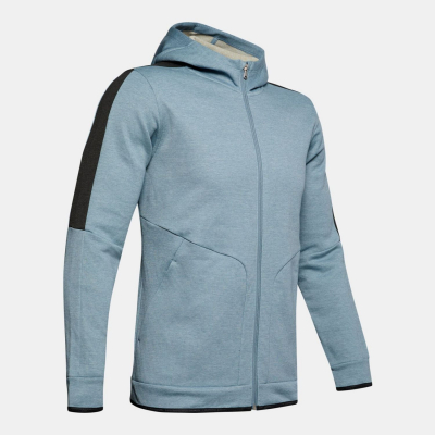 Mikina UNDER ARMOUR Athlete Recovery Fleece Full Zip Grey