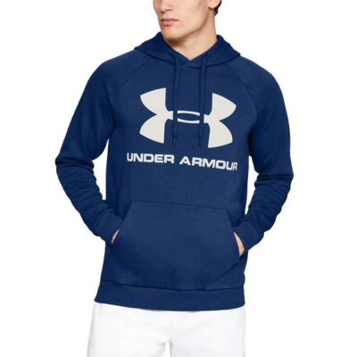 Mikina UNDER ARMOUR Rival Fleece Big Logo Blue