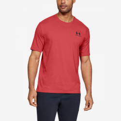 Tričko UNDER ARMOUR Sportstyle Left Chest Red