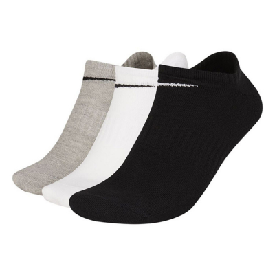 NIKE Everyday Lightweight NS 3-Pair Black/White/Grey