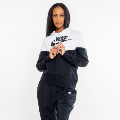 NIKE Sportswear Heritage Fleece Black/White