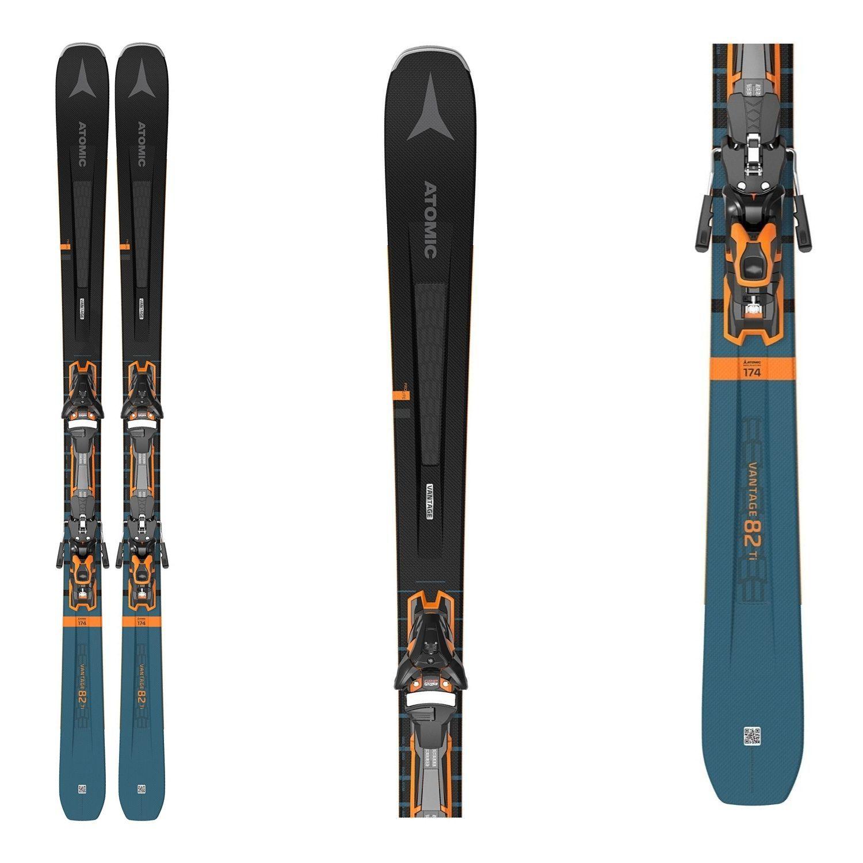 Zjazdové lyže ATOMIC Vantage 82 TI + F 12 GW Black/Blue Čierno-modrá 174 cm
