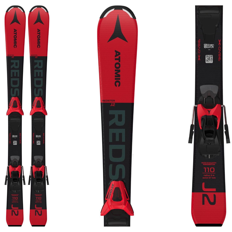 Detské lyže ATOMIC Redster J2 100-120 + C5 GW Red/Black Čierno-červená 120 cm
