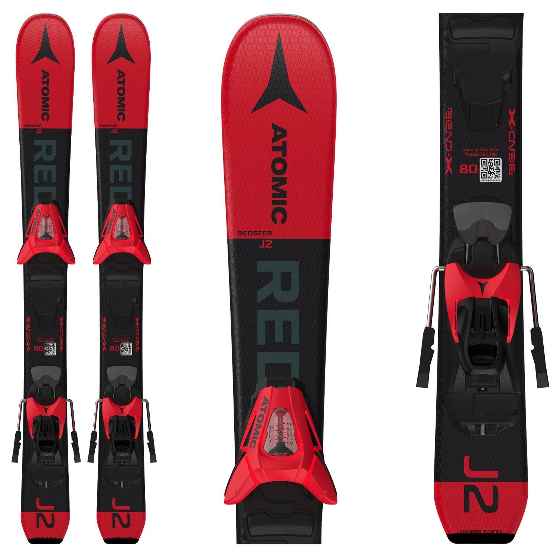 Detské lyže ATOMIC Redster J2 70-90 + C 5 GW Red/Black Čierno-červená 70 cm